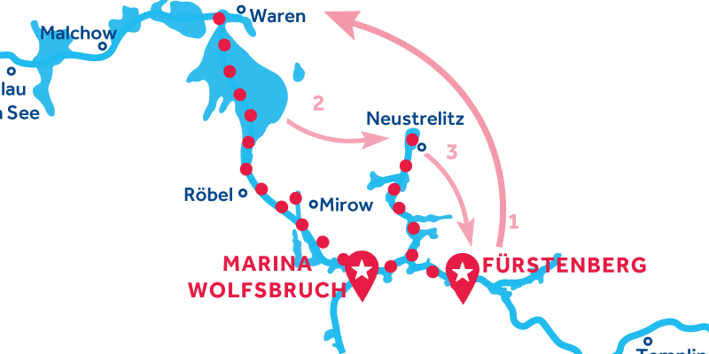 Fürstenberg RETURN via Waren & Neustrelitz