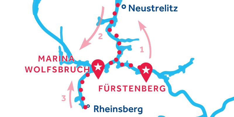 Fürstenberg RETURN via Neustrelitz & Rheinsberg