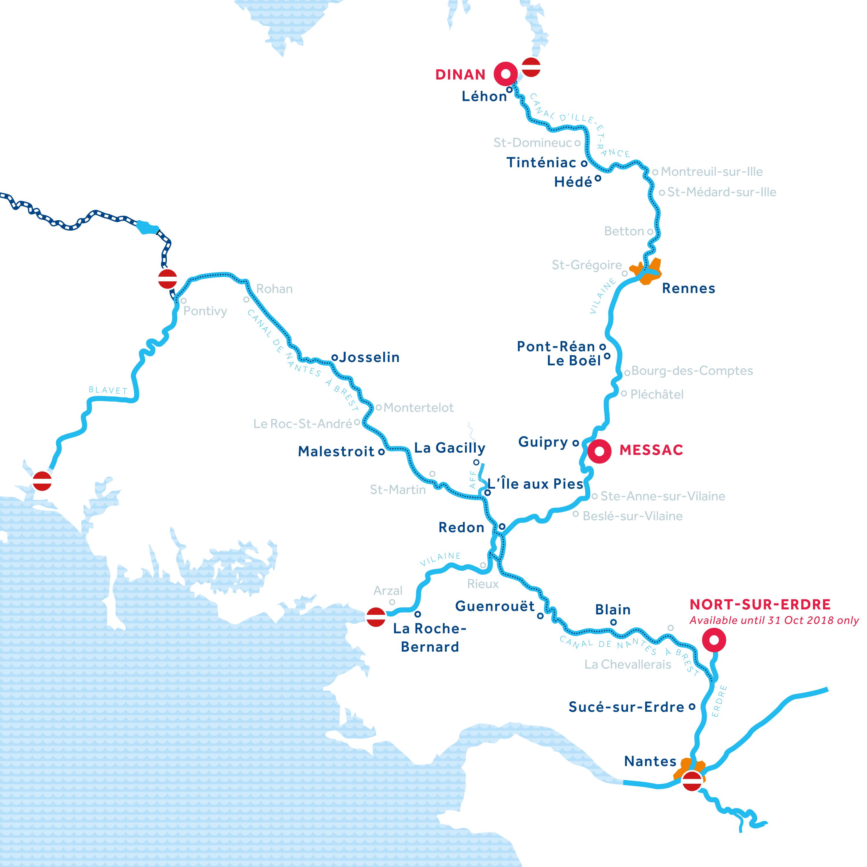 Brittany region map