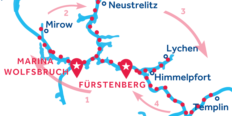 Fürstenberg RETURN via Waren, Neustrelitz & Templin