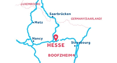 Hesse base location map