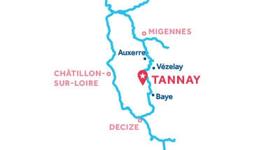 Tannay base location map