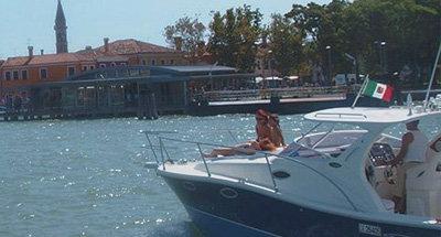 Family on Italian boat