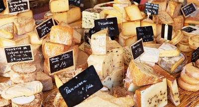 French cheese at a market