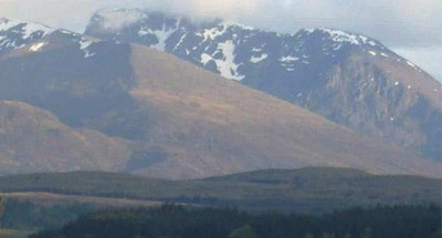 Snowy Scottish mountain scenery