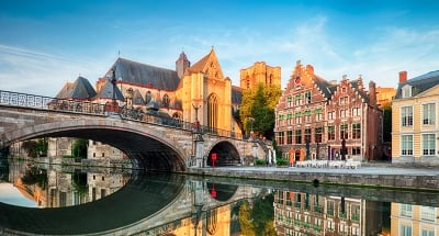 Medieval bridge in the beautiful city of Ghent