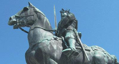 Statue of man on horseback