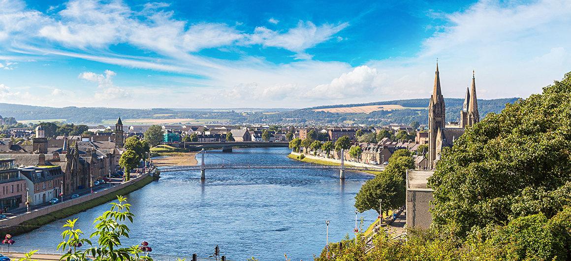 Cityscape of Inverness, Scotland
