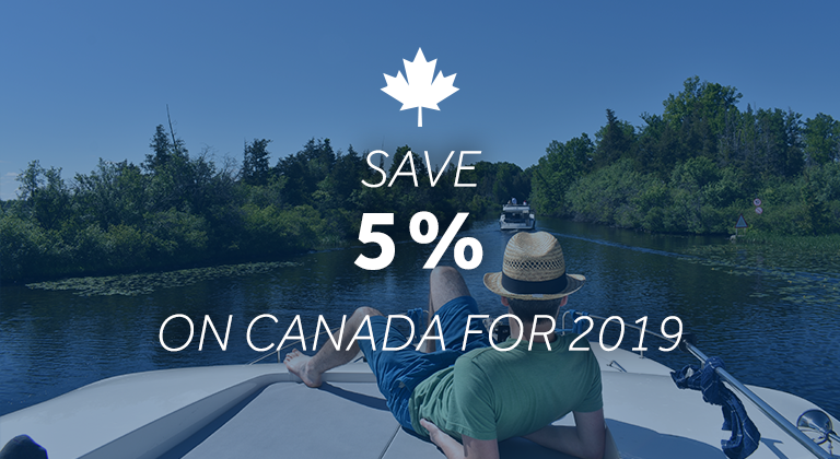 Le Boat - save 5% on 2019 Canadian Cruises