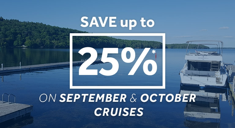 le boat - up to 25% off sept and oct cruises - offer
