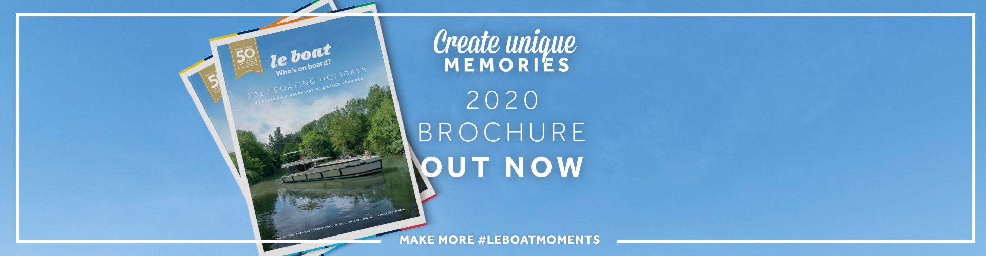 Le Boat - download your 2020 brochure today