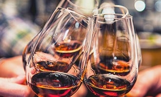 Glasses of Cognac